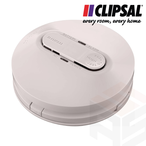 Clipsal 240V Photoelectric Smoke Alarm + 9V Battery Backup